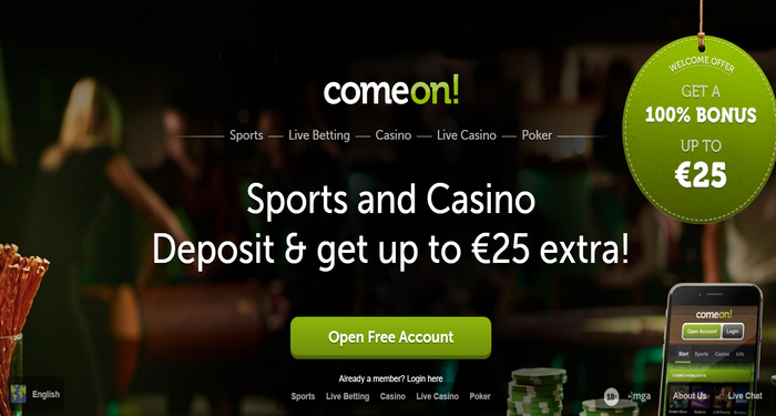 review comeon casino